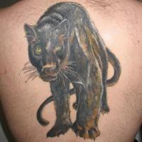 Black panther walking tattoo
